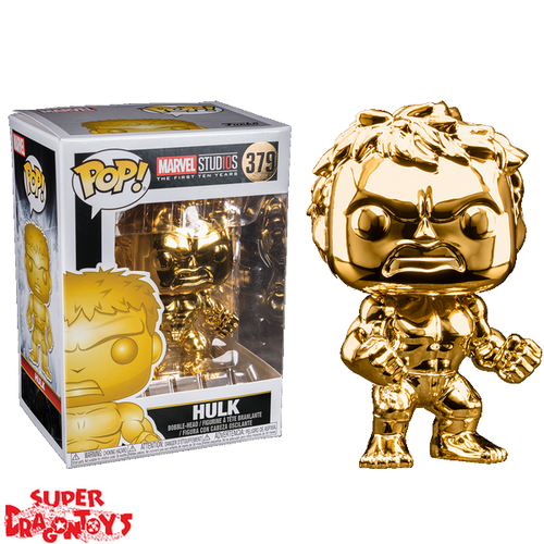 MARVEL STUDIOS : THE FIRST TEN YEARS -HULK [GOLD CHROME] - FUNKO POP LIMITED EDITION