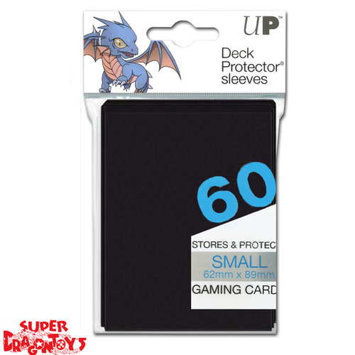 TCG - DECK PROTECTOR SLEEVES [BLACK] - SMALL SIZE