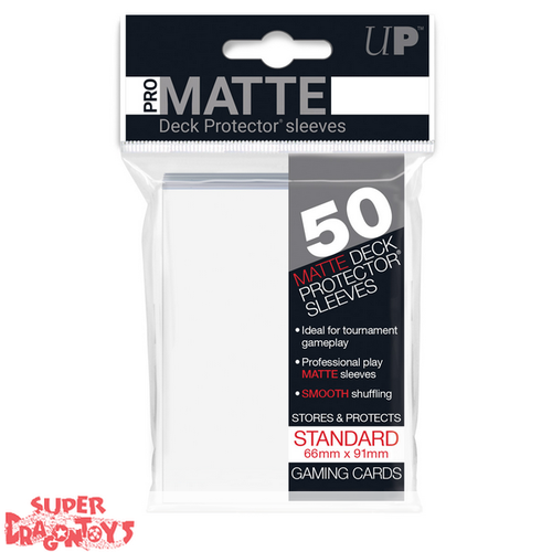 TCG - MATTE DECK PROTECTOR SLEEVES [CLEAR] - STANDARD SIZE