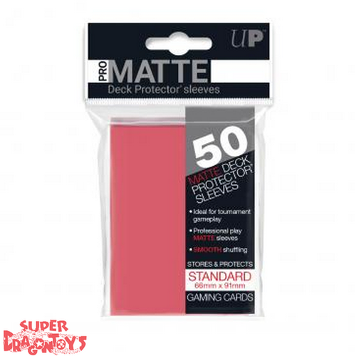 TCG - MATTE DECK PROTECTOR SLEEVES [RED] - STANDARD SIZE