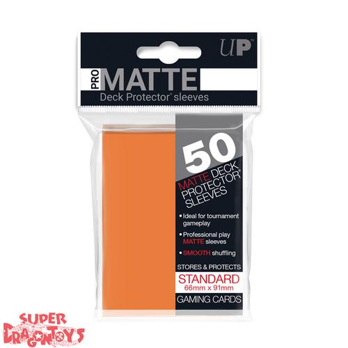 TCG - MATTE DECK PROTECTOR SLEEVES [ORANGE] - STANDARD SIZE
