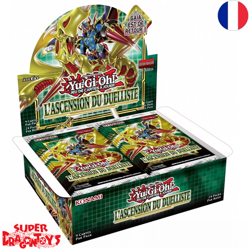 "YUGIOH TCG - DISPLAY [24 BOOSTERS] ""L'ASCENSION DU DUELLISTE"" - EDITION FRANCAISE"