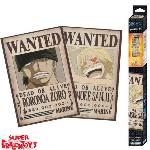 "ONE PIECE -  POSTERS [SET] ""WANTED : ZORO & SANJI"""