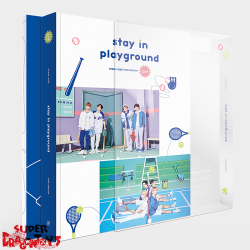 "STRAY KIDS (스트레이 키즈) - 2ND PHOTOBOOK ""STAY IN PLAYGROUND"" - [PHOTOBOOK + DVD] PACKAGE"