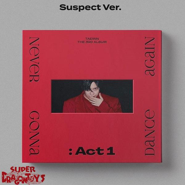 TAEMIN (태민) - NEVER GONNA DANCE AGAIN : ACT 1 - [A/SUSPECT : RED] VERSION - 3RD ALBUM