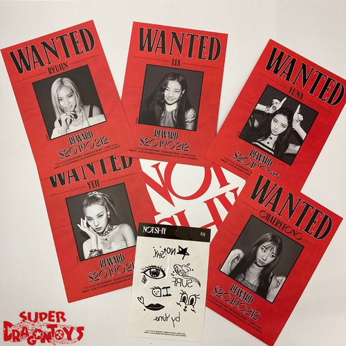 "ITZY - ""NOT SHY"" POSTCARD SET + TATTOO STICKERS"