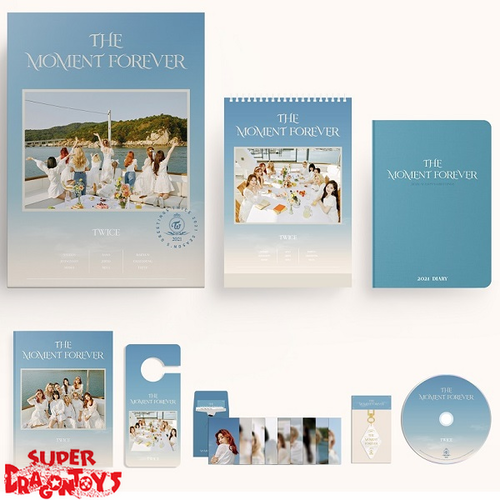 "TWICE (트와이스) - 2021 SEASON'S GREETINGS ""THE MOMENT FOREVER"" - [DESK CALENDAR + DVD + GOODIES] PACKAGE"