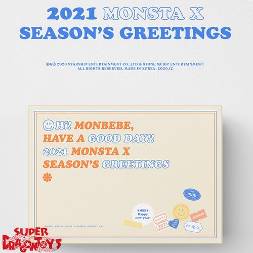 MONSTA X (몬스타엑스) - 2021 SEASON'S GREETINGS - [DESK CALENDAR + DVD + GOODIES] PACKAGE
