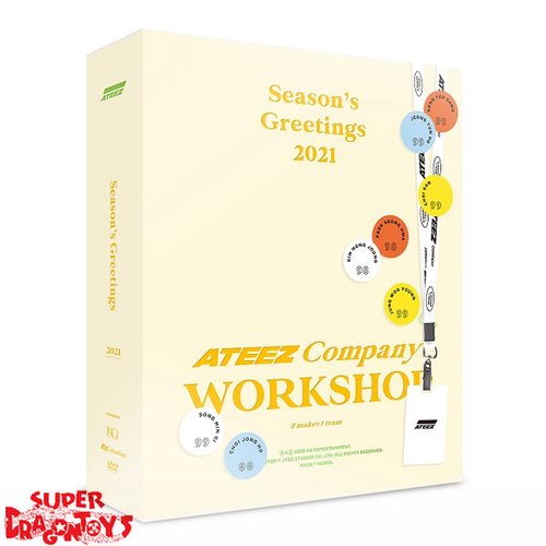 "ATEEZ (에이티즈) - 2021 SEASON'S GREETINGS ""ATEEZ COMPANY WORKSHOP"" - [DESK CALENDAR + DVD + GOODIES] PACKAGE"