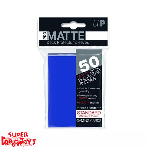 TCG - MATTE DECK PROTECTOR SLEEVES [BLUE] - STANDARD SIZE