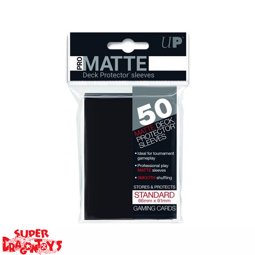 TCG - MATTE DECK PROTECTOR SLEEVES [BLACK] - STANDARD SIZE