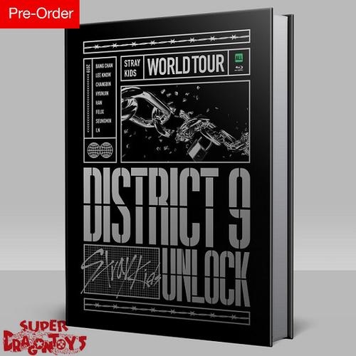 "STRAY KIDS (스트레이 키즈) - STRAY KIDS WORLD TOUR ""DISTRICT 9 UNLOCK"" - [2BLU RAY + PHOTOBOOK] BOX + PREORDER [MINI POSTER] BONUS"