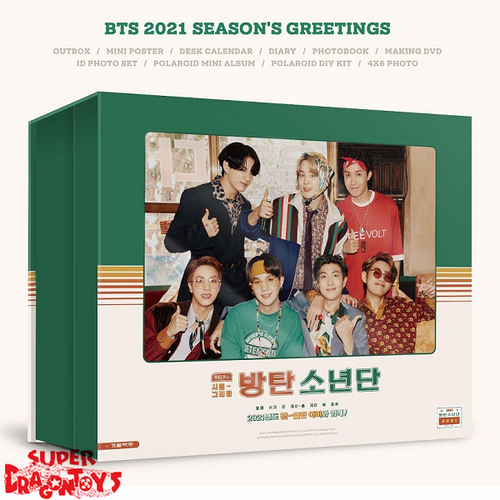 "BTS (방탄소년단) - 2021 SEASON'S GREETINGS ""BTS GOES RETRO"" - [DESK CALENDAR + DVD + GOODIES] PACKAGE"