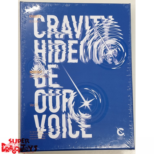 CRAVITY (크래비티) - HIDEOUT : BE OUR VOICE - [BLUE / 2] VERSION - 3RD MINI ALBUM