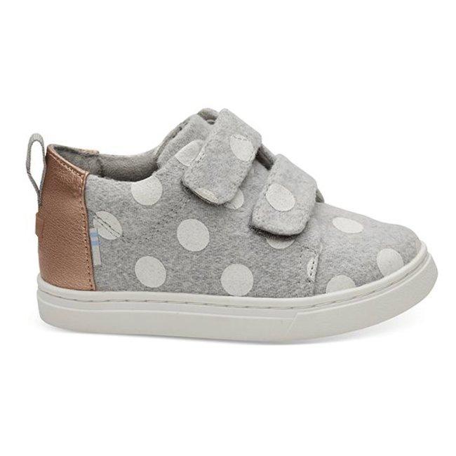 659c97d5803 Toms Lenny Sneakers Grey Felt Polka Dot - Noise Kids