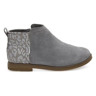 Toms Youth Deia Shade Suede Grey Cheetah