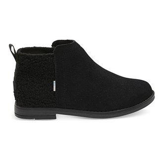 Toms Youth Deia Black Suede Plush