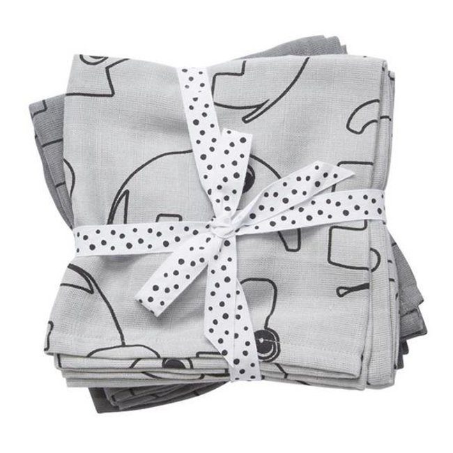 Done By Deer Swaddle Set Contour Grey