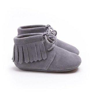 fc54215f5bf Mockies Fringe Boots Grey Suede
