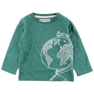 Small Rags Shirt Globe Frosty Spruce