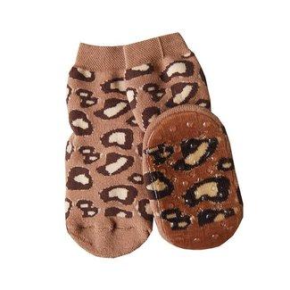 Ewers Anti-Slip Sokken Leopard Brown