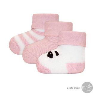 Ewers Newborn Sokjes Panda Rose 3-Pack