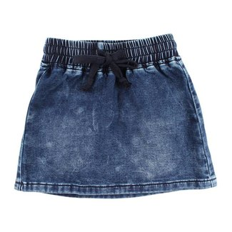 Small Rags Skirt Soft Denim Heart Blue