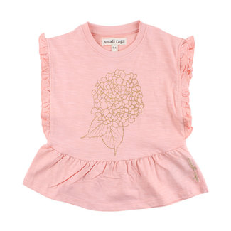 Small Rags Top Fringes Coral Cloud