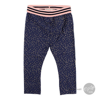 Small Rags Legging Golden Dots Navy Iris