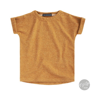 Your Wishes Boxy Tee Solid Camel