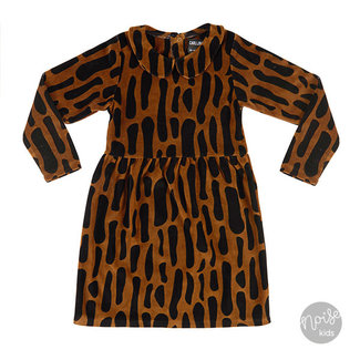 CarlijnQ Collar Dress Bark Velvet