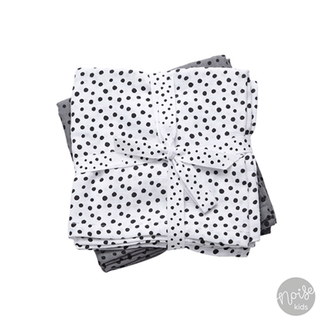 Done By Deer Burp Cloths Happy Dots Grey