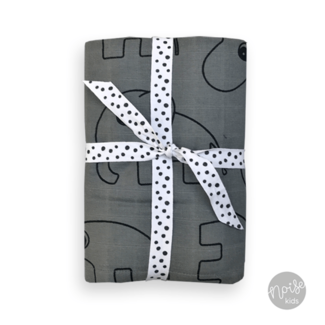 Done By Deer Swaddle Contour Dark Grey