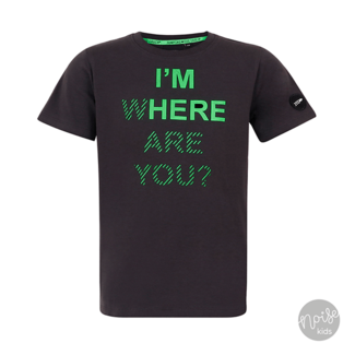 Jumping The Couch T-Shirt I'm Here Dark Grey