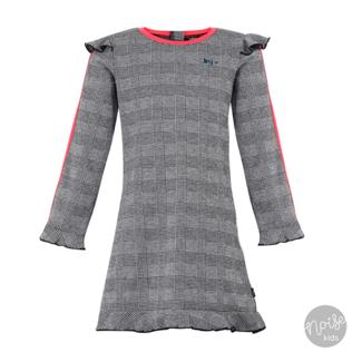 Little Miss Juliette Dress Grey Sporty Stripe