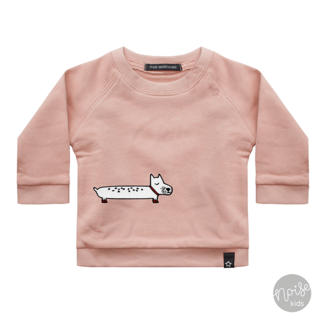 Your Wishes Sweater Puppy Patch Soft Pink