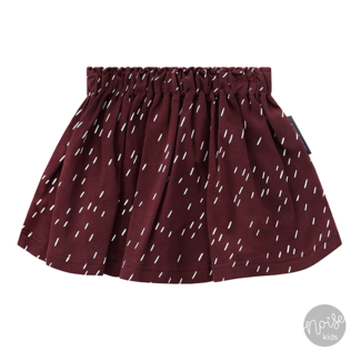 Your Wishes Skirt Rainy Wine Red
