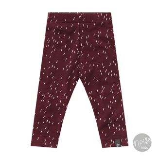 Your Wishes Legging Rainy Wine Red