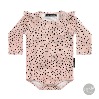 Your Wishes Romper Cheetah Soft Pink