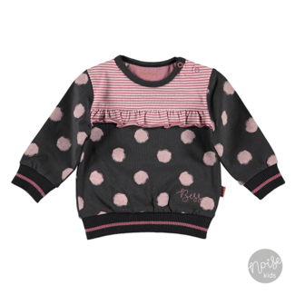 Bess Sweater Dots Pink Anthracite
