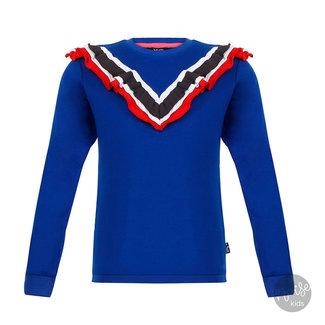Little Miss Juliette Sweater V Ruffle Blue