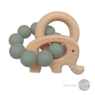 Chewies & More Rattle Elephant Chewie Sage
