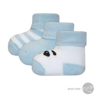 Ewers Newborn Sokjes Panda Blue 3-Pack