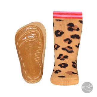 Ewers Anti-Slip Sokken Leopard Camel