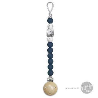 Chewies & More Siliconen Speenkoord Deep Blue & Marble