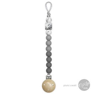 Chewies & More Siliconen Speenkoord Dark Grey, Light Grey & Marble