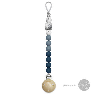Chewies & More Siliconen Speenkoord Deep Blue, Dusty Blue & Marble