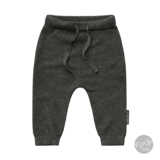 Your Wishes Knitted Baggy Pants Grey