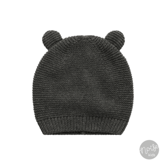 Your Wishes Knitted Newborn Hat Grey