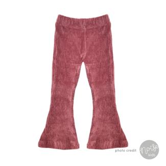 KMDB Flared Pants Rib Pink